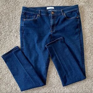 LOFT Dark Wash Skinny Jeans